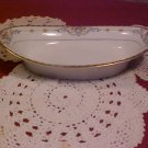Noritake Wellesley rose pattern Pat. #68476 oval relish or dessert bowl