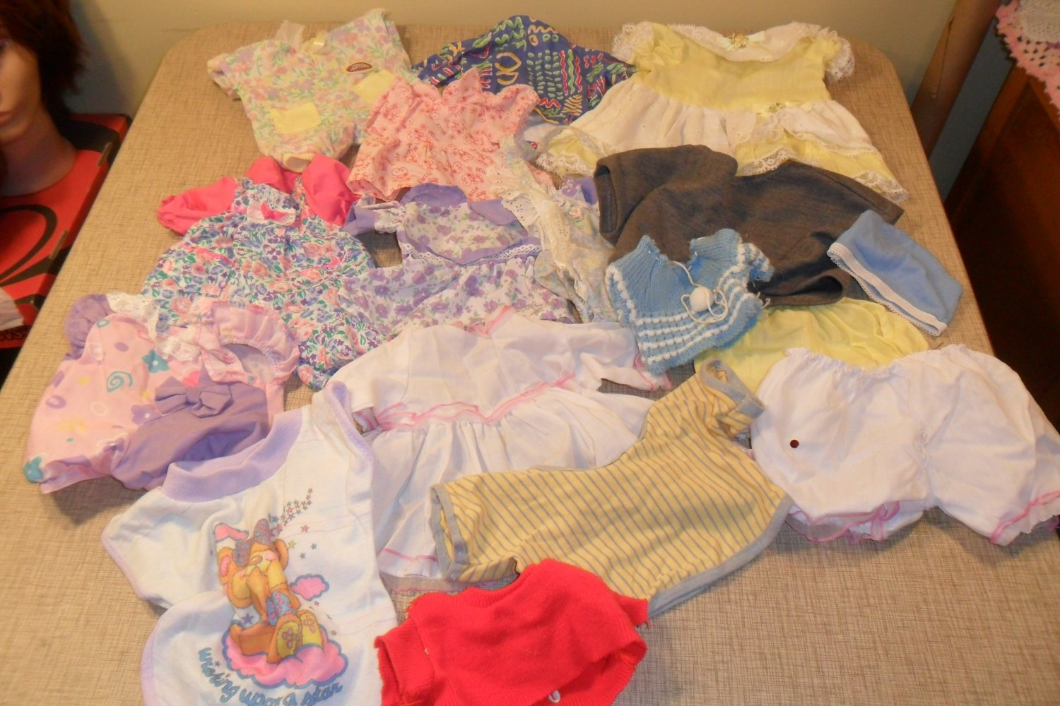 Lot of Baby Doll Clothing Dress, pants, shirts for 16 to 20 in Doll (SOLD)