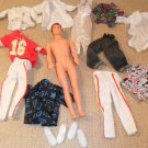 1991 Ken Barbie Doll Lot with Clothing and shoes