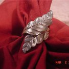 VINTAGE STERLING SILVER RETRO LEAF RING