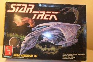 1989 STAR TREK 3 Piece Adversary Model Set