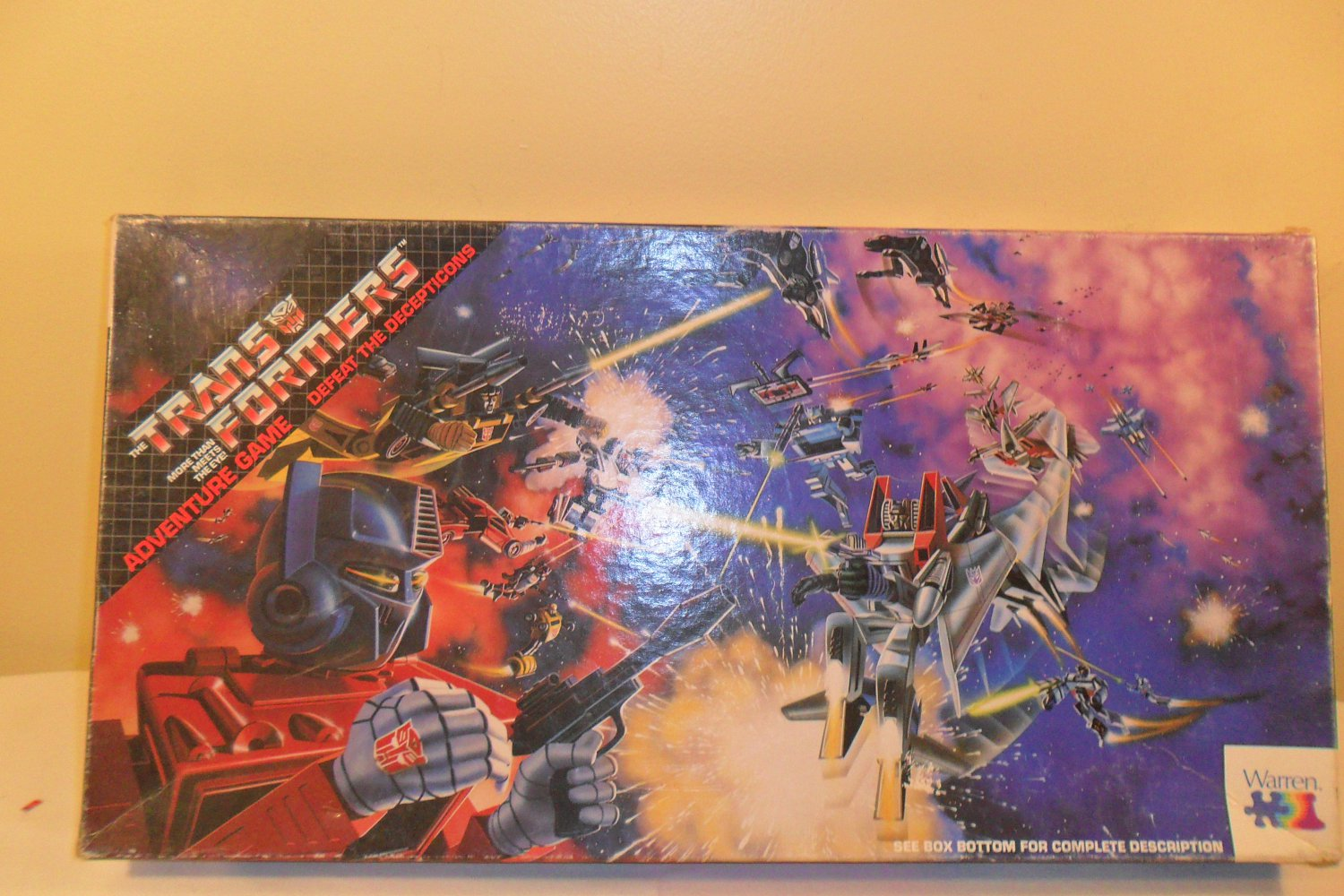 1989 The Trans Formers Adventure Board Game complete