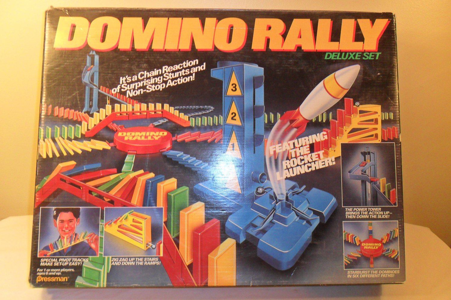 1989 Domino Rally Deluxe Set Featuring the Rocket Launcher (SOLD)