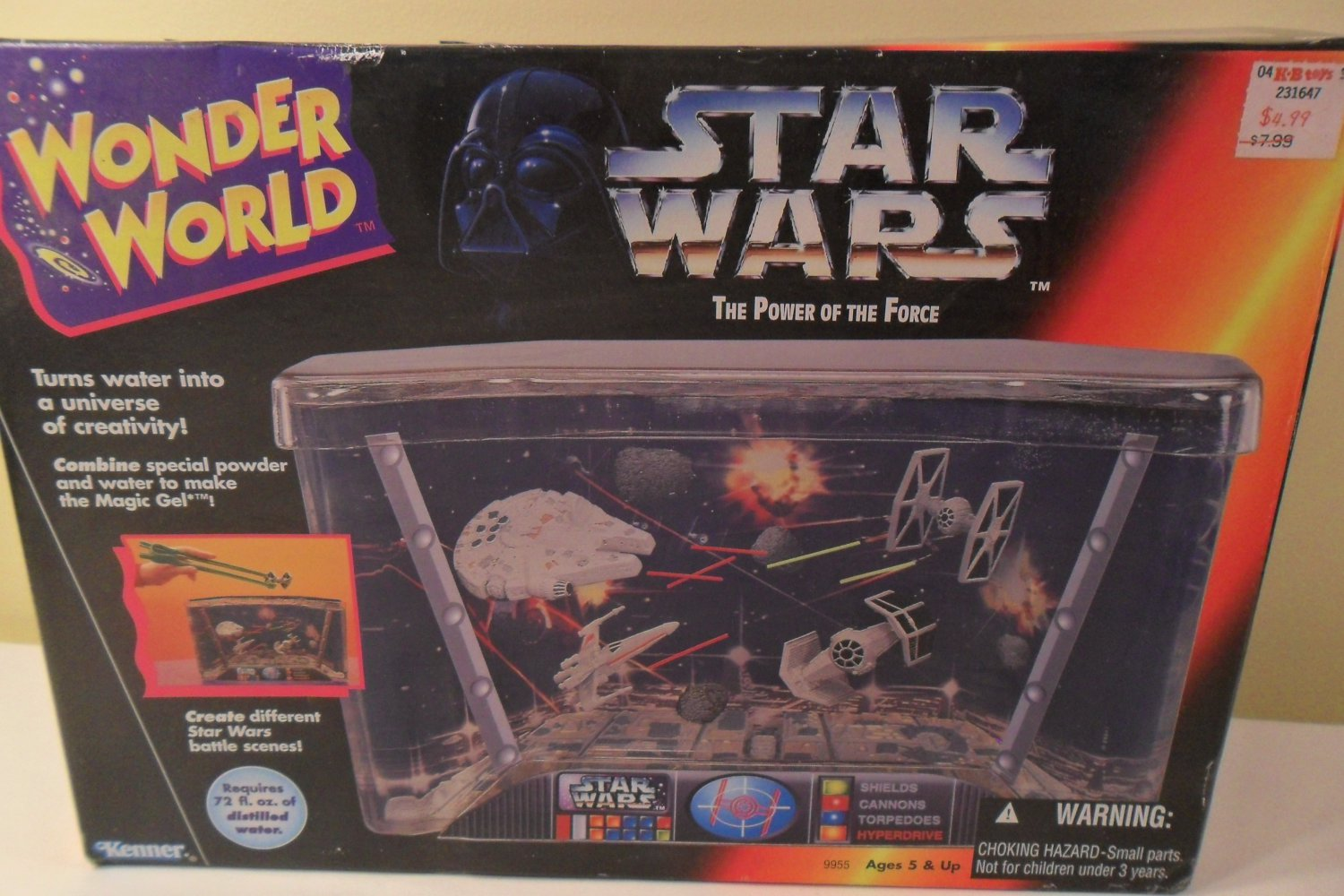 MIB 1995 Wonder World Star Wars Water Tank Toy Kenner (SOLD)