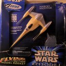 1998 Estes Star wars Episode I Flying Action Model Rocket Naboo Fighter