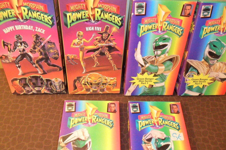 Mighty Morphin Power Rangers Happy Birthday Zack Vhs 4fc920d3bd74a ...