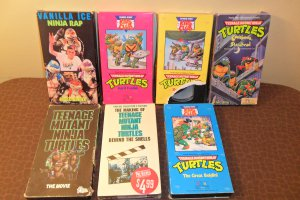 Lot of 7 Teenage Mutant Ninja Turtles VHS Video Tapes