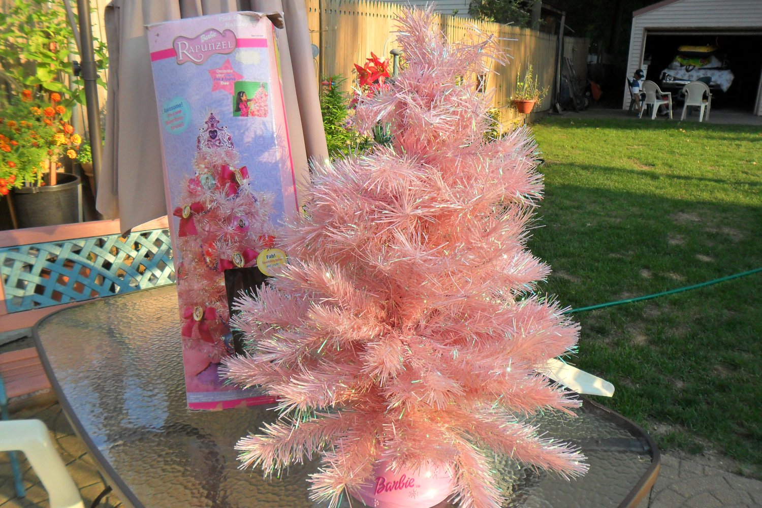2002 Barbie Rapunzel Pink & Sparkly Holiday Tree (sold