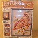 "NIP Design R Crafts Tra-Pun-To Quilted Pictures with Crewel Stitchery ""Sage Owls"" Kit"