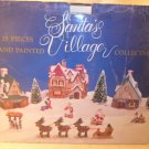 NIB Santa's 15 pieces Hand Painted Village Collection