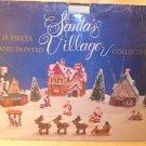 NIB Santa's 15 pieces Hand Painted Village Collection