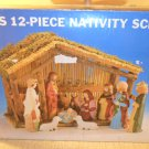 NIB 12 piece Nativity Scene