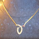 Vintage gold tone rhinestone necklace