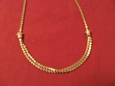 Vintage retro gold tone fashion necklace