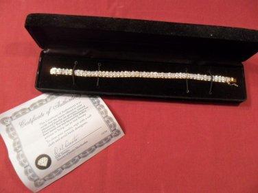 5ct 14k Yellow gold diamond tennis bracelet genuine Diamonds