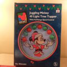 Vintage Disney Mickey Mouse Juggling Mickey 40 Light Tree Topper