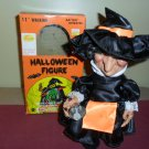 "Vintage 80's 11"" Walking Halloween Figure Witch"