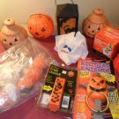Vintage lot of Halloween light up lantern door knockers and more