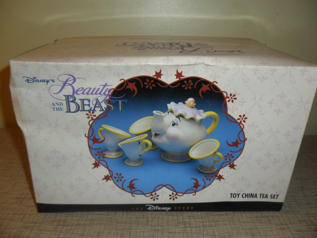 Mib Disney Store Porcelain Toy China Tea Set Beauty And