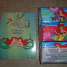 Disney Little Mermaid Barrettes and 6 pack of Tissues all mint never used