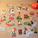 Vintage Lot of 24 Disney Christmas Ornaments