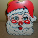 Vintage Wooden Santa Claus Music Box Wall Hanging Eyes Move