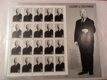 Alfred Hitchcock 1997 Legends of Hollywood 20-Stamp Sheet -Master of Suspense