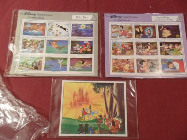 Disney Classic Fairytales In Postage Stamps Mint