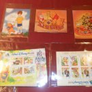 Huge 1990s Lot Winnie The Pooh Walt Disney World Stamp Collection w/ COA