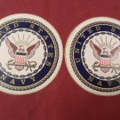 "2 US Navy Seal 4"" Round Decal Sticker"