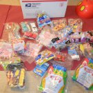 Medium priority box filled with Hot Wheels happy meal toys un-open 1990's