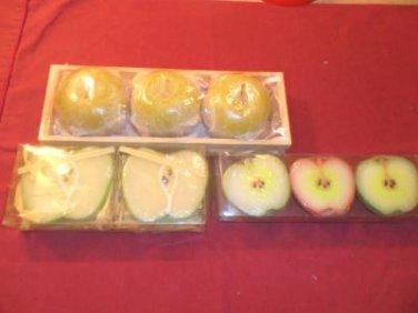Vintage Set of Apple Candles