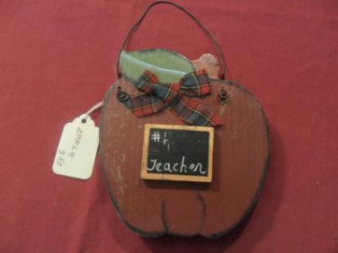 Primitive Decor #1 Teacher Apple