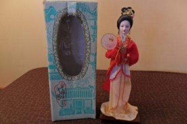 Vintage Peking Silk Figures MIB