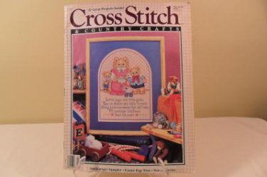 MAR/APR 1989 CROSS STITCH AND COUNTRY CRAFTS BOOK SEASIDE SERIES