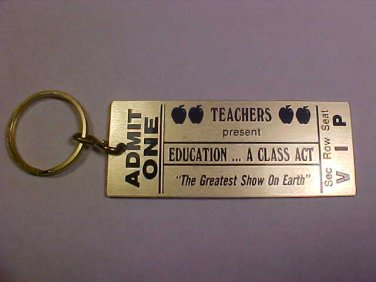 VINTAGE THE GREATEST SHOW ON EARTH TEACHERS KEY CHAIN
