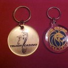 LOT OF 2 CASINO KEY CHAINS MGM GRAND & TRUMP CASINO