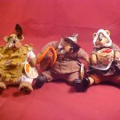 SET OF 3 RUSS BERRIE BEARS SETTING BEARS NWT