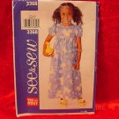 SEE & SEW BUTTERICK GIRLS DRESS PATTERN UNCUT