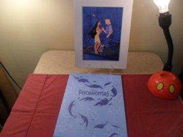 1995 Mint Disney Store Pocahontas Exclusive Commemorative Lithograph