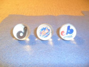 Lot of 4 Baseball Proshooters Marble Mets, P, Jb Rare hard to find