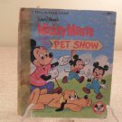 1976 Walt Disney Mickey Mouse And The Pet Show Book