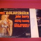SOUND TRACK 007 GOLDFINGER 33 RPM LP RECORD ALBUM