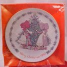 1980 holly hobbie merry christmas collector plate MIB