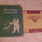 1952 LANGUAGE SKILLS & 1936 CORRELATED HANDWRITING BOOK