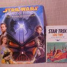 LOT OF 2 STAR WARS MOVIE STORYBOOK STAR TREK LOG 2 BOOK