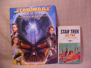 LOT OF 2 STAR WARS MOVIE STORYBOOK STAR TREK LOG 2 BOOK
