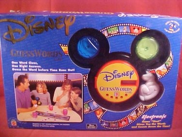 2001 DISNEY ELECTRONIC GUESS WORDS GAME