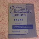 VINTAGE ELEMENTARY METHOD DRUMS BOOK