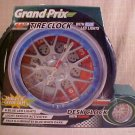 NIB GRAND PRIX TIRE CLOCK & DESK ALARM CLOCK